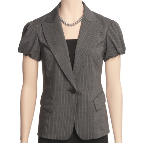 Lafayette 148 New York Hollis Jacket - Polished Wool Pinstripe (For Women)