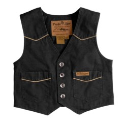 Powder River Outfitters Lil Colt Vest - Garment-Washed Canvas (For Kids)