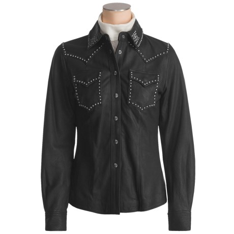 Powder River Outfitters Chama Shirt Jacket - Lambskin (For Women)