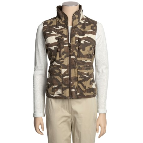 Powder River Outfitters Carswell Vest - Rip Cord Camouflage, Insulated (For Women)