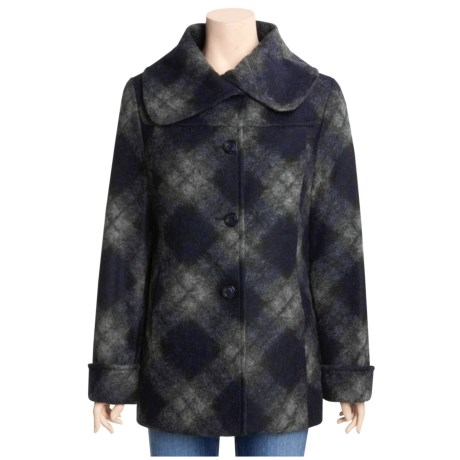 Ellen Tracy Argyle Car Coat - Wool Blend (For Women)