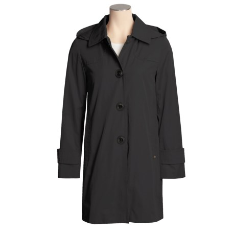 Ellen Tracy Hooded Raincoat - Button-Out Liner (For Women)