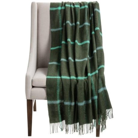 "Abraham Moon & Sons Bronte by Moon Windowpane Throw Blanket - Merino Wool, 55x72"""