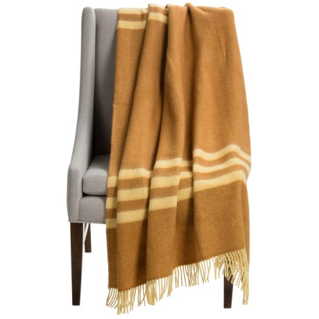 Abraham Moon & Sons Bronte by Moon Striped Wool Throw Blanket - 55x72""