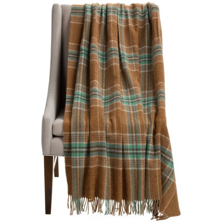 Abraham Moon & Sons Bronte by Moon Ingleton Check Wool Throw Blanket - 55x72""