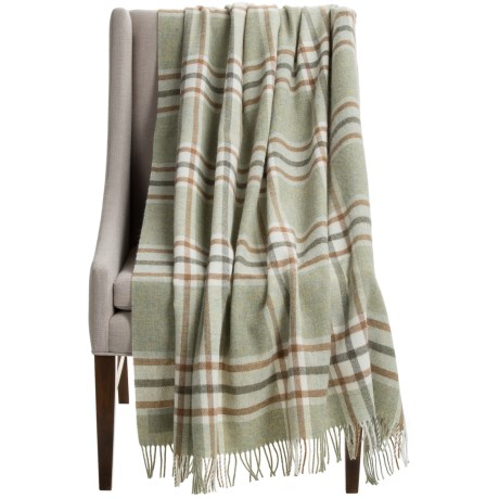 """Abraham Moon & Sons Bronte by Moon Arncliffe Check Wool Throw Blanket - 55x72"""""""
