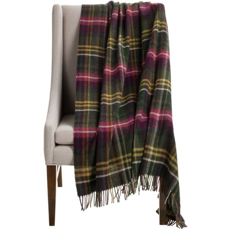Abraham Moon & Sons Bronte by Moon Hetton Check Wool Throw Blanket - 55x72""