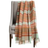 """Abraham Moon & Sons Bronte by Moon Antique Check Wool Throw Blanket - 55x72"""""""