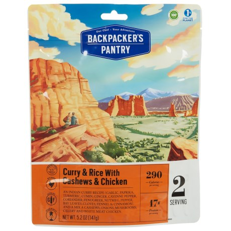 Backpacker's Pantry Cashew Curry - 2 Servings