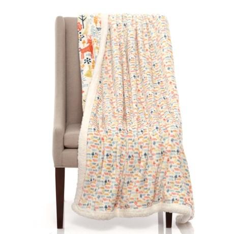 "Cynthia Rowley Woodblock Forest Fleece Dog Throw Blanket - 50x60"""