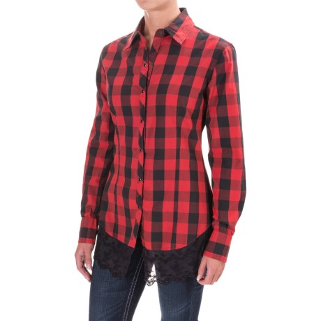 Rock & Roll Cowgirl Gingham Shirt - Snap Front, Long Sleeve (For Women)