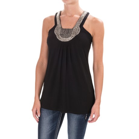 Rock & Roll Cowgirl Beaded Tank Top (For Women)