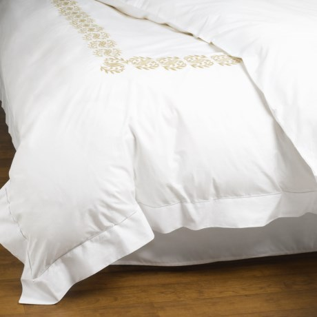 Peacock Alley Vienna Embroidered Duvet Cover - Twin, Egyptian Cotton