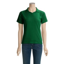 Hanes StayClean Jersey Polo Shirt - Short Sleeve (For Women)