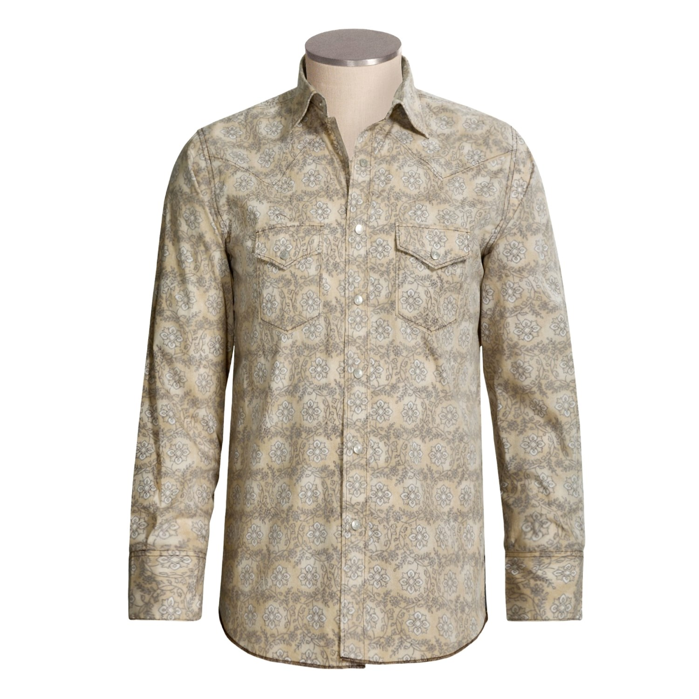 Resistol Floral Print Western Shirt For Men 2482g Save 62