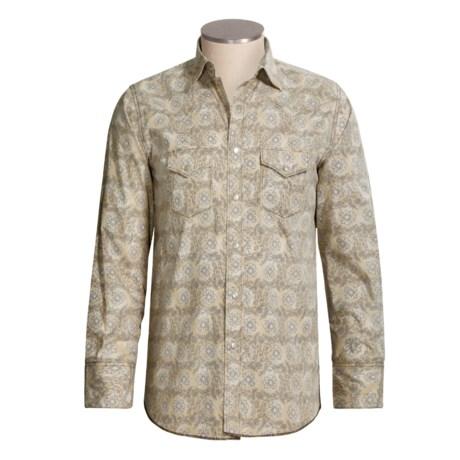 Resistol Floral Print Western Shirt - Cotton, Long Sleeve (For Men)