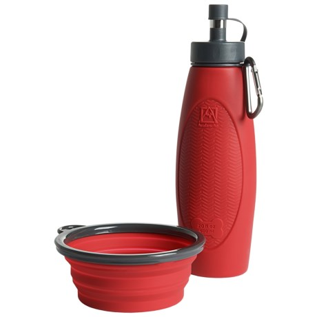 Avalanche Silicone Travel Bowl and Water Bottle Set - BPA-Free