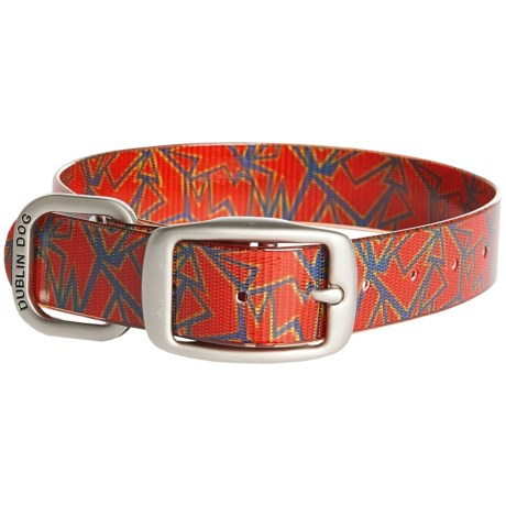 Dublin Dog No-Stink Shattered Pattern Dog Collar - Waterproof