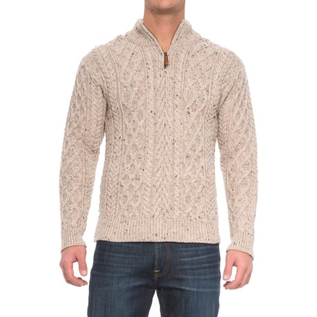 Inis Crafts Aran Cable Sweater - Merino Wool (For Men)