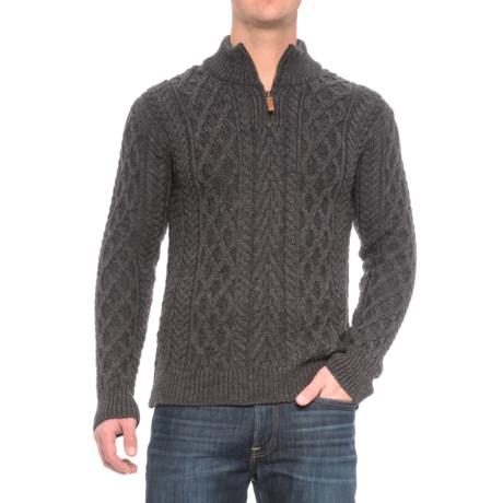 Inis Crafts Aran Sweater - Merino Wool (For Men)