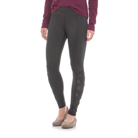 Cable & Gauge Mesh Hem Leggings (For Women)