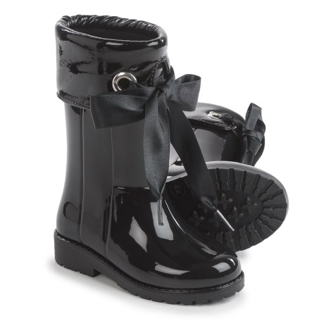 Igor Campera Charol Black Rain Boots - Waterproof (For Little and Big Girls)