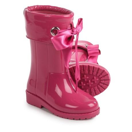Igor Campera Charol Bow Tie Fuchsia Rain Boots - Waterproof (For Little and Big Girls)