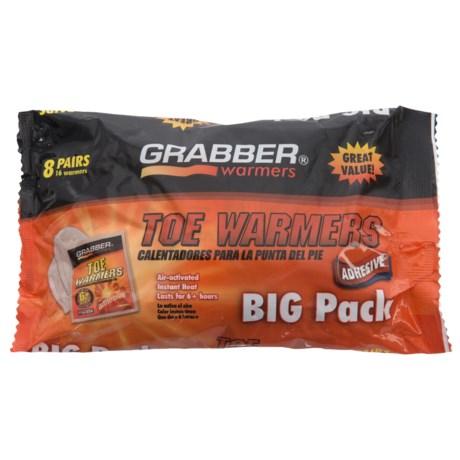 Grabber Adhesive Toe Warmers - 8-Pair