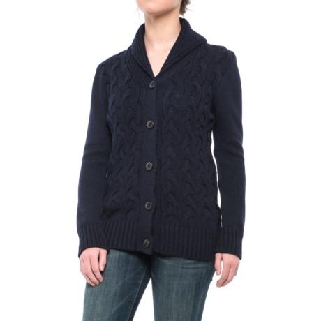 J.G. Glover & CO. Peregrine by J.G. Glover Corden Shawl Cardigan Sweater - Merino Wool (For Women)