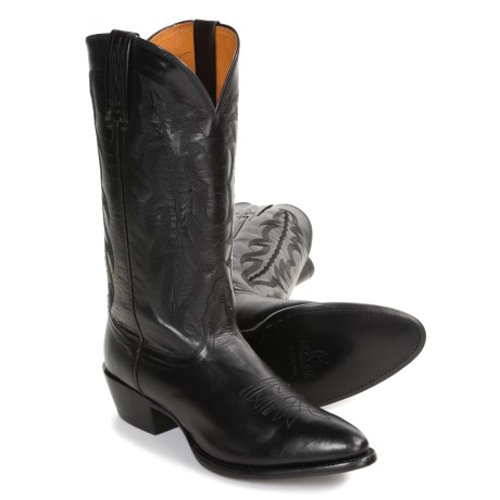 Nocona R-Toe Cowboy Boots - Italian Kangaroo Leather (For Men)