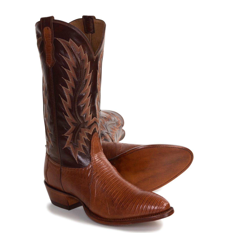 Nocona Teju Lizard Skin Cowboy Boots For Men 2495y