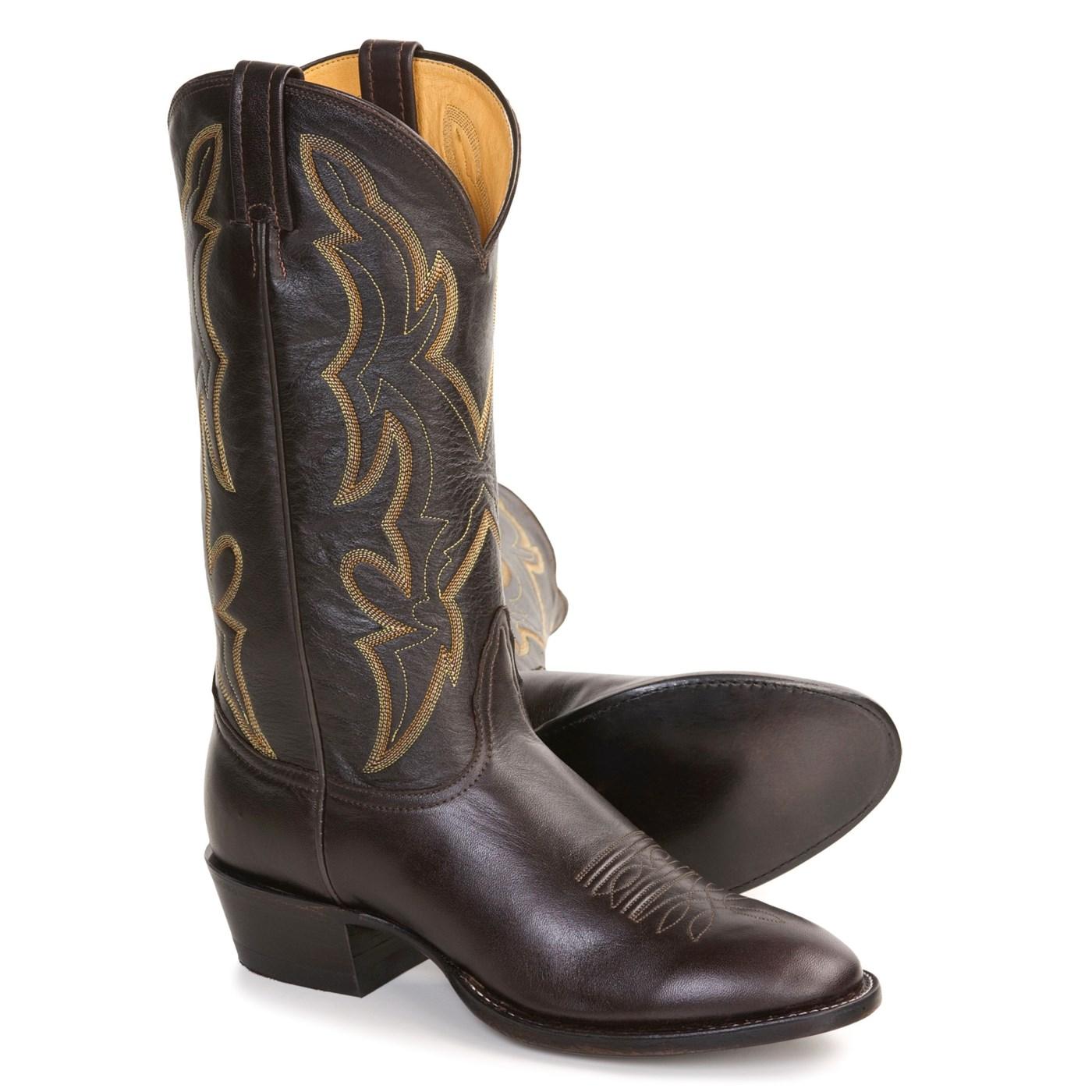 b12c8bca706 Nocona Lux Calfskin Cowboy Boots (For Men) 2496F 33 on PopScreen