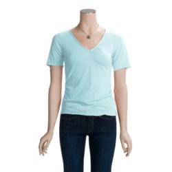 Spooney Wear Ever Gathered V-Neck Shirt - Short Sleeve (For Women)