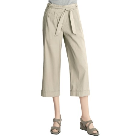 Two Star Dog Deanna Crop Pants - Stretch Linen, Pleated (For Women)