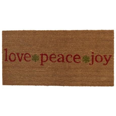 "THRO Holiday Coir Doormat - 20x40"""