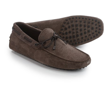 Tod's Tod's Gommini Driving Shoes - Textured Suede (For Men)