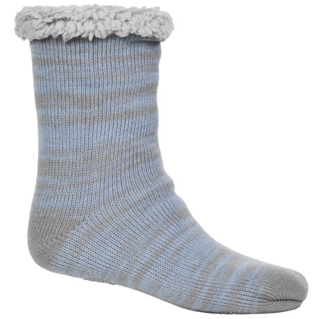 Muk Luks Marled Cabin Socks - Fleece Lined, Mid Calf (For Women)