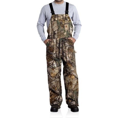 Carhartt Quilt-Lined Camo Bib Overalls - Insulated, Factory Seconds (For Big Men)