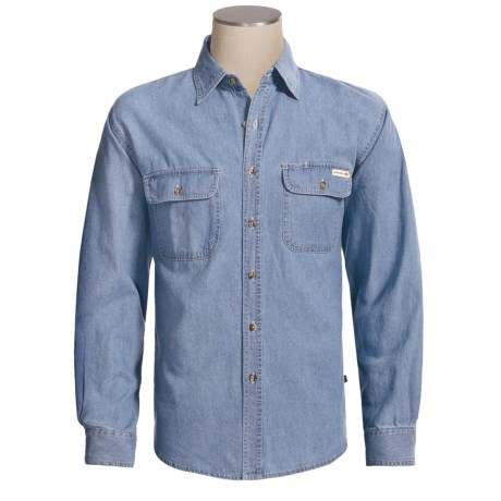Grizzly Denim Shirt - Long Sleeve (For Tall Men)