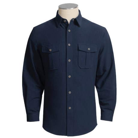 Grizzly Baxter Solid Shirt - Cotton Chamois, Long Sleeve (For Tall Men)