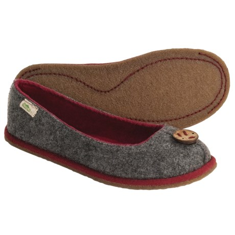 Simple Parlay Flat Slippers - Wool-Organic Cotton-Recycled Materials (For Women)