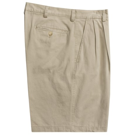 Barry Bricken Pleated Shorts - Cotton Twill (For Men)