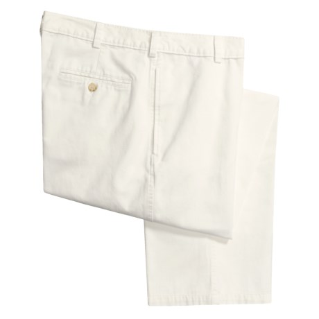 Barry Bricken Cotton Twill Pants - Flat Front (For Men)
