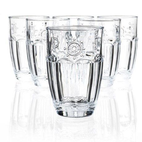 Global Amici Shipyard Wheel Highball Glasses - Set of 6