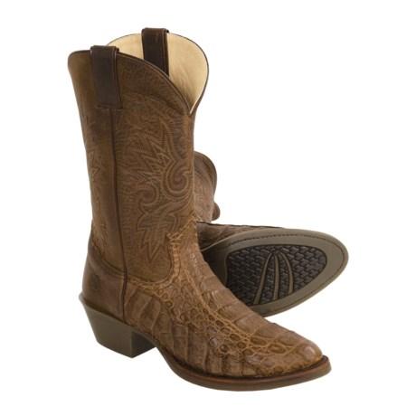 Double H Caiman Crazy Horse Cowboy Boots - Wide Toe (For Men)