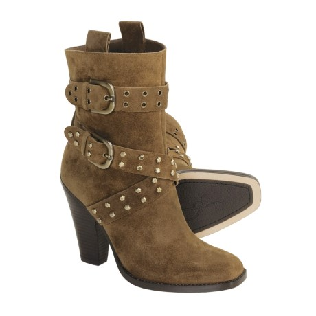 Joan & David Kerris Pull-On Boots - Suede  (For Women)