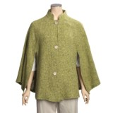 Weave of the Irish Wool Tweed Cape (For Women)