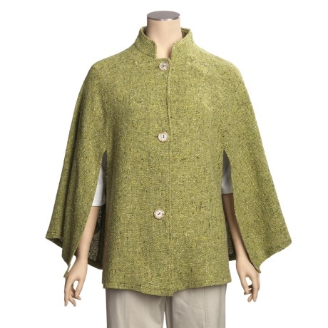 Weave of the Irish Wool Tweed Cape (For Women)