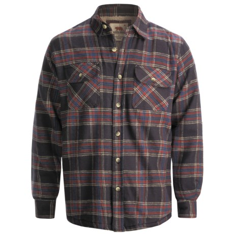 Dakota Grizzly Mack Flannel Shirt - Sherpa Lined, Long Sleeve (For Men)