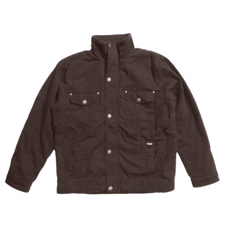 Grizzly Shane Waxed Baby Canvas Coat - Flannel Lining (For Men)
